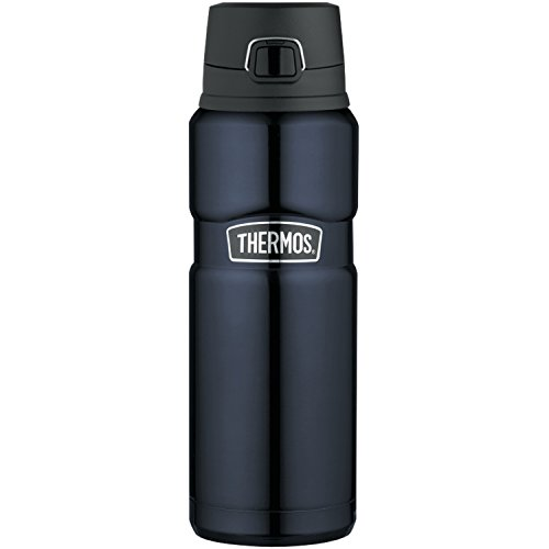 thermos insulated water bottles THERMOS Stainless King Vacuum-Insulated Drink Bottle, 24 Ounce, Midnight Blue