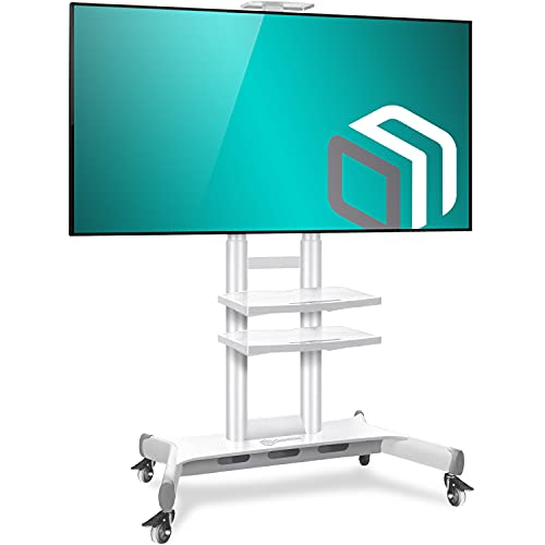 ONKRON Mobile TV Stand with Wheels Rolling TV Cart for 50 to 83 Inch LCD LED Flat Panel TVs (TS1881)