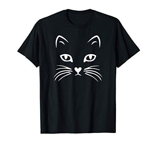 Cat Face T Shirt: Halloween Tshirt For Women Girls Boys Kids T-Shirt