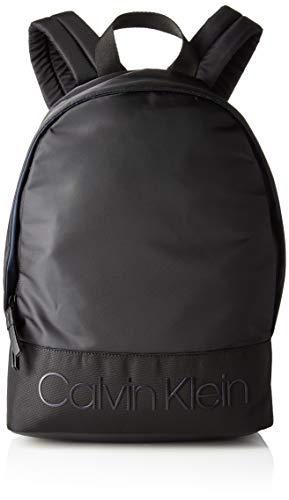 Calvin Klein Shadow Round Backpack - Zaini Uomo, Nero (Black), 15x42x30 cm (B x H T)