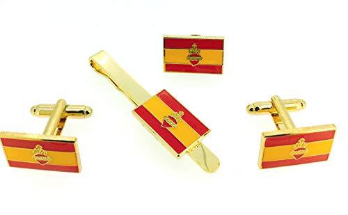 Pack Gemelos Camisa - Pin Solapa Pasador Corbata Bandera