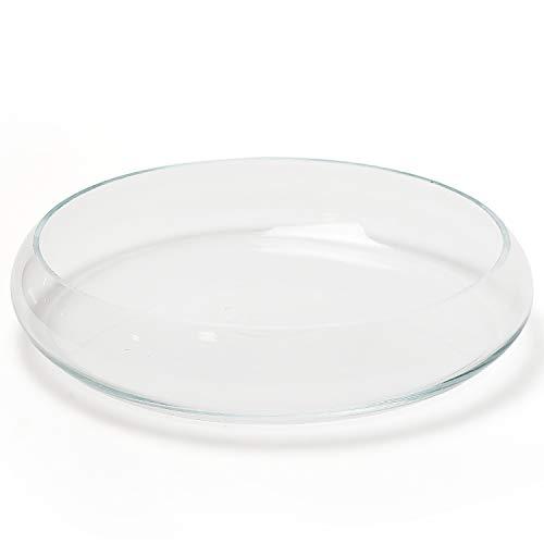 Glasschale Lennard Ø 26 cm und/oder schwimmende Deko-Accessoires - Schale Dekoschale aus Glas Schwimmteelichtgläser Glasdeko Dekoglas Schwimmteelichthalter Farbe Glas-Schale Ø 26 cm