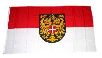 Fahne Flaggen WIEN MIT WAPPEN 150x90cm