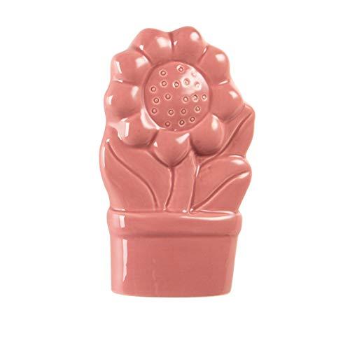 MONTEMAGGI Umidificatore a Forma di Gatto in Ceramica 15X7X14 cm (FIORELLONE Rosso)