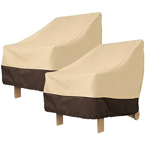 Rfvtgb Juego de 2 fundas para sillas Adirondack de 31 x 33 x 36 pulgadas de alto rendimiento para terrazas de 420D, impermeables, color beige