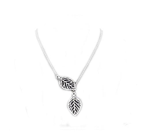 Albeey - Collar estilo antiguo del árbol de la vida para mujeres, en plata