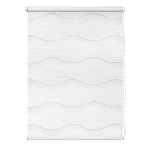 Lichtblick Duo-Rollo Welle Klemmfix, 90 cm x 150 cm (B x L) in Weiß, ohne Bohren, Doppelrollo mit Jalousie-Funktion, dekorativer Sonnen- & Sichtschutz, für Fenster & Türen - 6