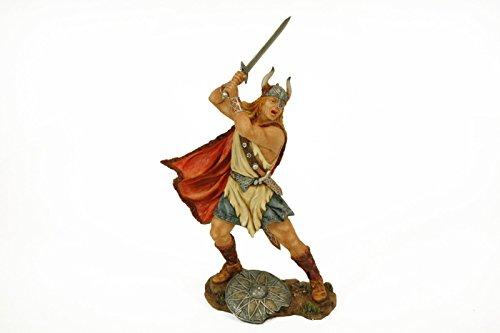 "Figura Decorativa ""Vikingo con Espada"" Figuras Resina. 14 x 11 x 24 cm."