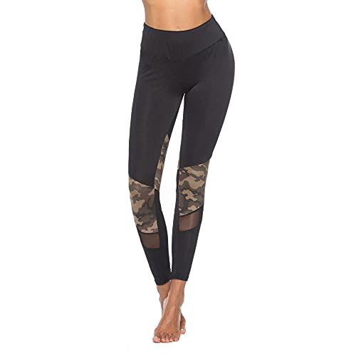 Damaioness Medias deportivas para correr, cintura alta, leggings push up, pantalones de yoga, leggings delgados, color negro _M
