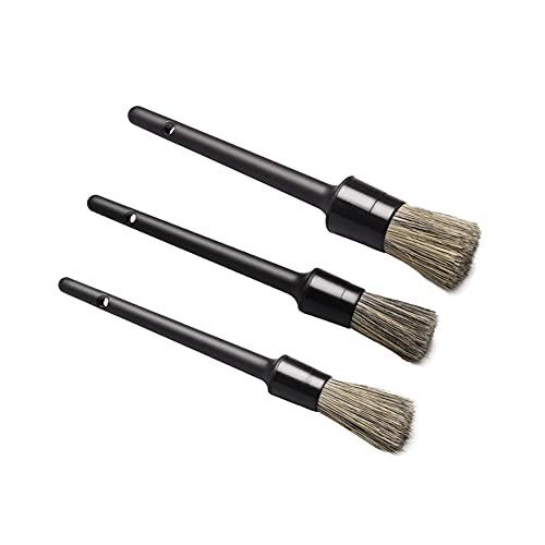 iSpchen Cepillo de Belleza Para Coche de 3 Uds, Cepillo Para Limpieza de Polvo de Cepillo Para detalles Automotrices Utilizado Para Cepillo de Limpieza de Huecos de Motor de Cubo de Neumático