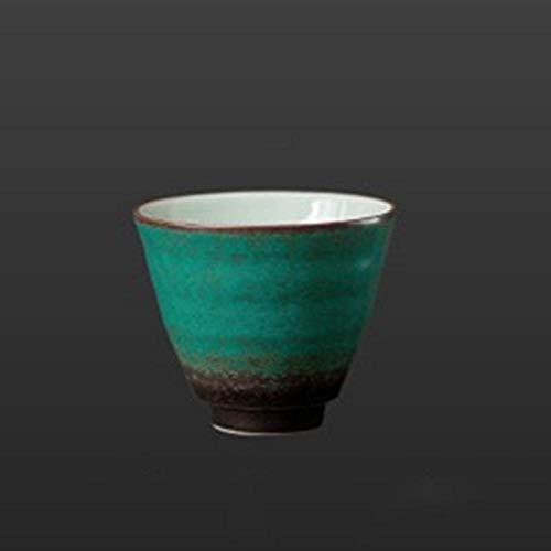 Ceremonia del Té Retro Taza Maestra Accesorios Decoración del Hogar Taza De Té Verde De Cerámica Taza De Té Simple Vintage Porcelana-B