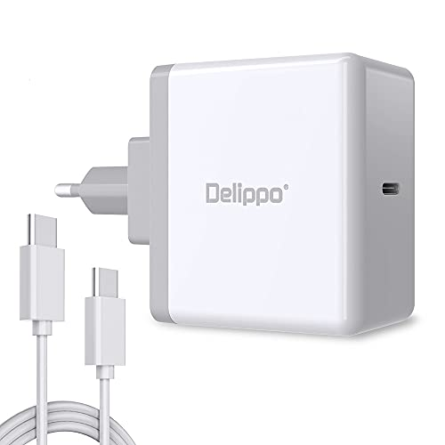 Delippo 65W USB C Charger iPhone X Charger iPhone 8 Plus/8 USB Power Adapter with Power Delivery 3.0 for MacBook, Nintendo Switch, Galaxy S8/Note 8, Google Pixel XL, Nexus 6P/5X and LG G5