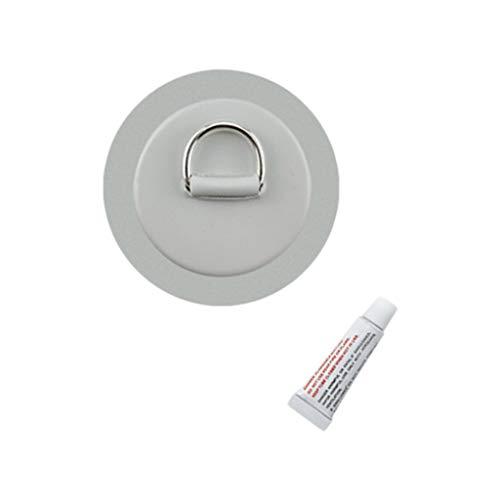 Colcolo Almohadilla/Parche de Anillo en D de Acero Inoxidable de 4,3'para Bote de PVC para Balsa, Resistente, Resistente - Gris, 110mm
