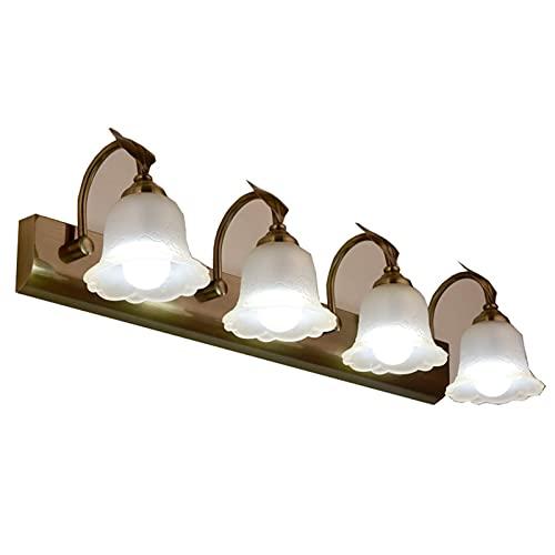 Luz De Espejo Led Faros De Espejo Minimalistas Lámpara De Pared Retro para Dormitorio, Baño, Tocador, Gabinete (Color: Luz Blanca, Tamaño: 26 Pulgadas)