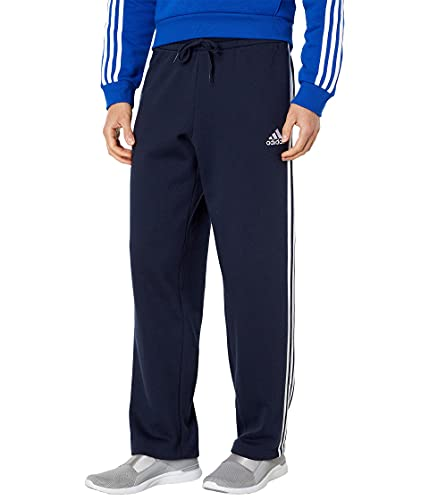 adidas Men's Essentials Fleece Open Hem 3-Stripes Pants