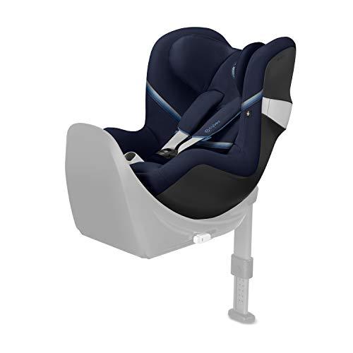 CYBEX Gold Kinder-Autositz Sirona M2 i-Size, Für Kinder ab 45 cm bis 105 cm (max. 19kg), Ohne Base M, Navy Blue