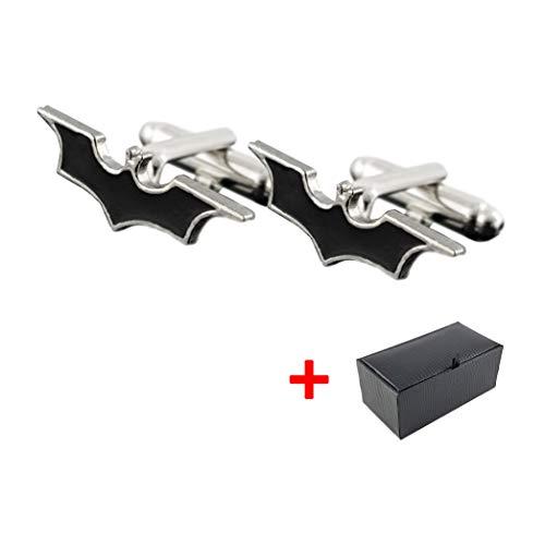 Hombre Gemelos Batman Incluye caja de regalo | Plata | Acero Inoxidable | de gran calidad estilo clásico Knots | Comercial Alemana | Mind Care Essentials