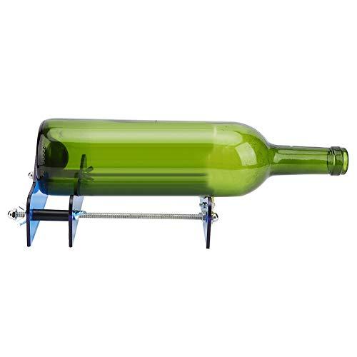 Cortador de botellas de vidrio de alta resistencia, botellas de vino azul Cortador de cristal de cristal de alta resistencia Material de PC de alta resistencia Mark PC y tornillo de acero inoxidable y