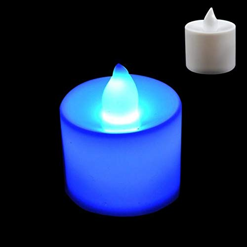 KASILU DIY Decorations House LED Candles Lamp LED Plastic Candle Shape Light flameless for Wedding/Party/Holiday (Color : Blue Light)