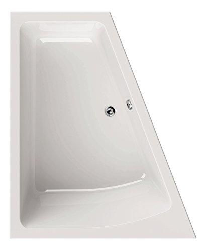 \'aquaSu® Acrylbadewanne droPino   Raumspar-Wanne rechte Ausführung   170 x 140 cm   Wanne   Badewanne   Weiß