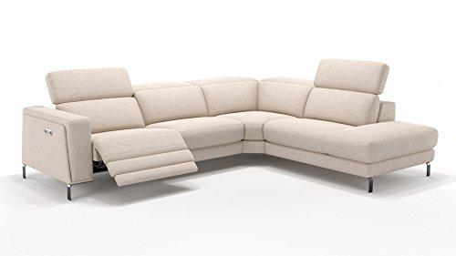 Design Sofa Eckcouch Garnitur Ecksofa Textil Stoff Wohnlandschaft Polsterecke Relaxfunktion