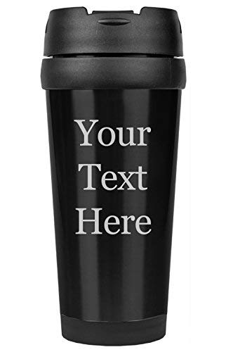 Customized 3D Laser Engraved Personalized Stainless Steel Custom Travel Mug without Handle For Him, For Her, For Boys, For Girls, For Husband, For Wife, For Them, For Men, For Women, For Kids(Black)