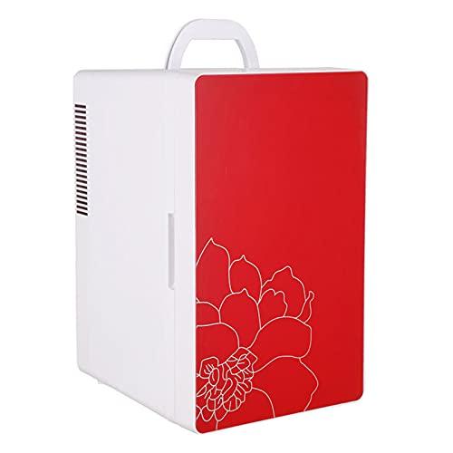 Bewinch Mini Nevera Eléctrica Refrigerador Portátil para Automóviles con Sistema Termoeléctrico Alimentado por CA/CC De Doble Núcleo Y Calentador,Rojo