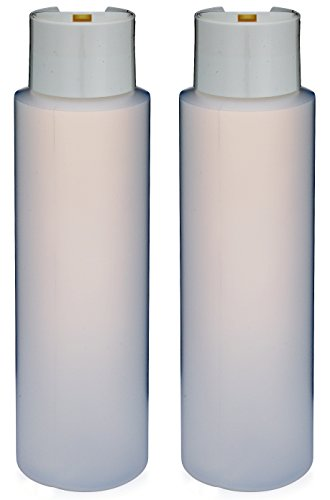 "2 Pack Refillable 16 Ounce HDPE Squeeze Bottles With""Stand On The Cap"" Dispenser Tops-Great For Lotions, Shampoos, Conditioners and Massage Oils From Earth"