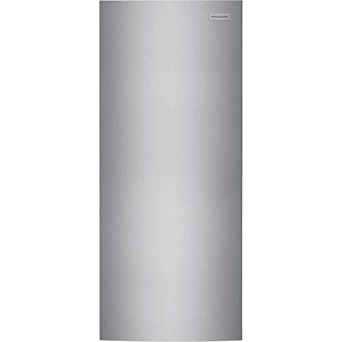 """Frigidaire FFFU16F2VV 28"""" Upright Freezer with 15.5 cu. ft. Capacity Power Outage Assurance EvenTemp Cooling System and Door Ajar Alarm in Stainless Steel"""