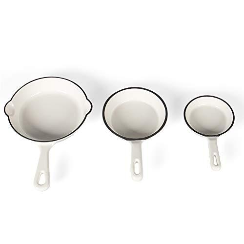 Kochchef Gusseisen Pfanne 3er Set in verschiedenen Größen, Ø9,9 cm, Ø12,7 cm, Ø 15,5 cm | Pfannenset | Pfannen sind induktionsgeeignet, backofengeeignet bis max. 200°