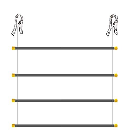 TenderUp Flexi, tendedero Vertical de Pinzas. Plegable. Diseño Compacto. Instalación en Barra de estores o Cortinas, en rejas, Cuerdas u Otros tendederos. Alumino. 4 Varillas. 95 cm x 160 cm.