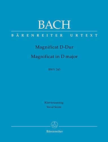 Magnificat D-Dur BWV 243. 2. Fassung mit 4 Einlagesätzen der Es-Dur-Fassung (transponiert). Klavierauszug, Urtextausgabe