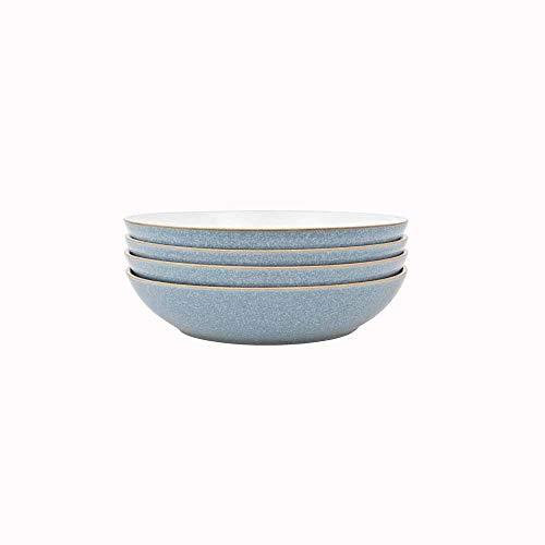 Denby 381048944 Elements 4 Piece Pasta Bowl Set, Blue