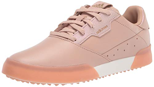 adidas Women's Golf Shoe, Pearl/Gold/White, 6.5