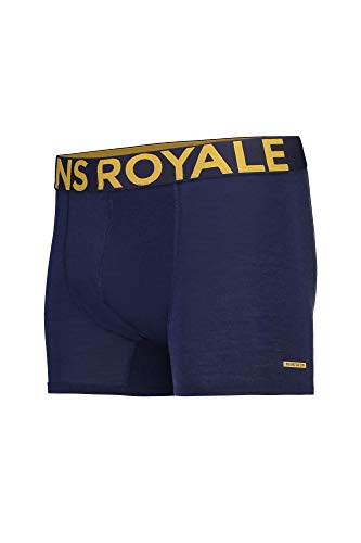 Mons Royale Merino M Hold 'EM Shorty Boxer Blau, Herren Merino Unterwäsche, Größe M - Farbe Navy