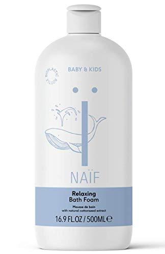 NAÏF Mousse de Bain Relaxante pour Bébés/Enfants 500 ml