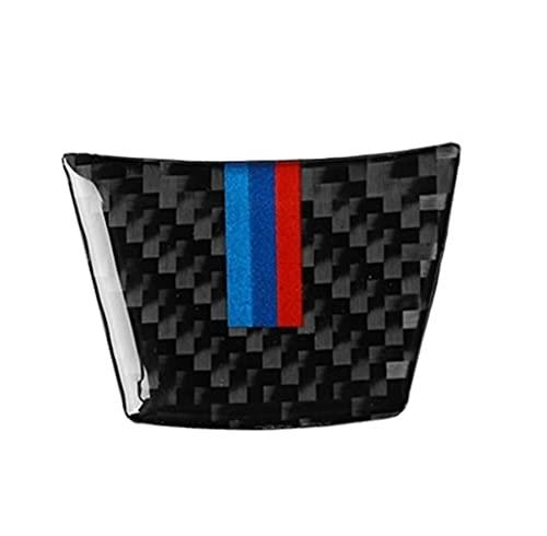 HYCQ para B-MW X5 E70 X6 E71 2008~2013 Interior De Fibra Carbono Decoración Cubierta Embellecedor Cubierta Interior del Coche Accesorios Decorativos Recorte Cubierta Marco (Color : Steering Wheel)
