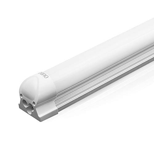OUBO T8 LED tubo fluorescente 120cm Blanco cálido 3000K 1950lm Bombillas de bajo consumo Cubierta blanca 18 vatios 230 voltios para el hogar,la oficina,el centro comercial,el garaje o el almacén.