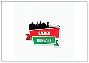 Szeged, Hungary City Skyline Illustration - Classic Fridge Magnet