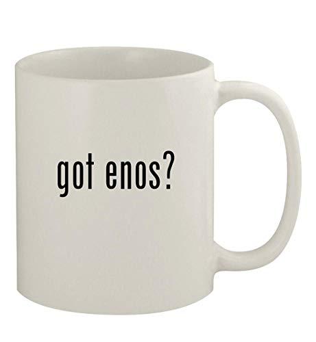 got enos? - 11oz Ceramic White Coffee Mug, White