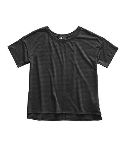 The North Face Women's Short Sleeve Emerine Top, TNF Black Desert Stripe/TNF Black, Size M