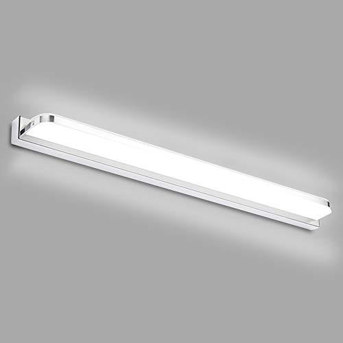 Hengda LED-Spiegelleuchte 7W 230V Kaltweiß 6000K Badleuchte Schminklicht Wandbeleuchtung Schrankleuchte Aufbauleuchte Edelstahl Acryl Wasserdicht IP44 Energieklasse A++