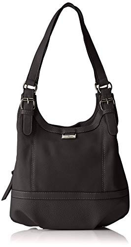 TOM TAILOR Shopper Damen, Juna, , Schwarz, 31x29x14 cm, TOM TAILOR Schultertasche, Handtaschen Damen
