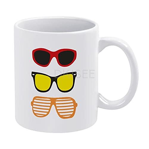 DKISEE Taza de café Tazas de té mejor regalo, gafas de sol 5932 tazas de cerámica mejor regalo de cumpleaños para hijo, hija, hermana, hermano, 11 oz