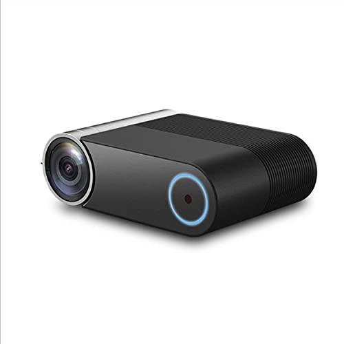 ABCD Proyector de teléfono móvil inteligente, proyector HD 1080p, WiFi misma pantalla, corrección Keystone, proyector con interfaz HDMI TV AV y control remoto