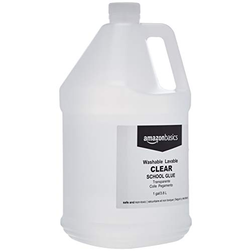 Amazon Basics All Purpose Washable School Clear Liquid Glue - Great for Making Slime, 1 Gallon Bottle