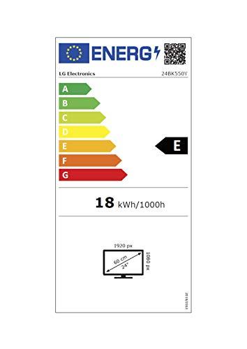 LG 24BK550Y-B 60,45cm 23,8Zoll LED LCD AH-IPS TFT 1.920×1.080 Pivot 16:9 1000:1 250cd 5ms analog DP1.2 HDMI DVI-D USB 2×1,2W schwarz - 19