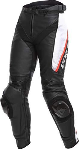 Dainese Delta 3 Damen Motorrad Lederhose Schwarz/Weiß/Rot 48