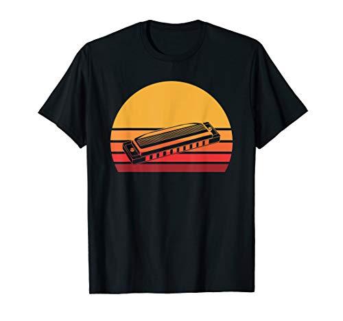 Retro Harmonica T-Shirt, Free Reed Wind French Harp Tee Gift