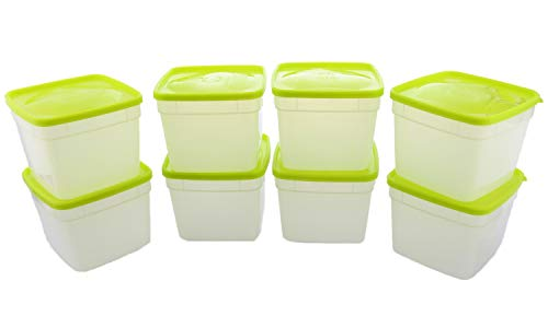 Arrow Reusable Plastic Food Storage Container Set, 8pk, 1.5 Pint/3 Cup- Meal Prep and Leftovers- Freeze, Store, Reheat- Clear Container Set with Lids- BPA-Free, Dishwasher/Microwave Safe